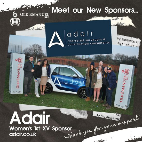 Adair announces sponsorship deal